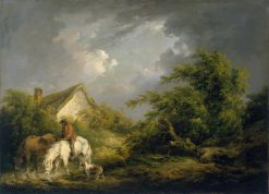 Before a Thunderstorm | George Morland | Oil Painting