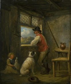 Peasant at a Window | George Morland | Oil Painting
