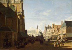 The Groote Market in Haarlem   Gerrit Adriaensz.Berckheyde   Oil Painting