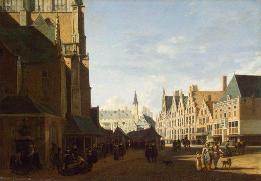 The Groote Market in Haarlem | Gerrit Adriaensz.Berckheyde | Oil Painting