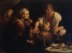 Isaac Blessing Jacob | Gioacchino Assereto | Oil Painting