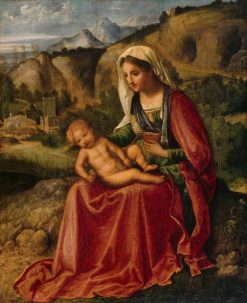 Virgin and Child in a Landscape   Giorgione   Oil Painting