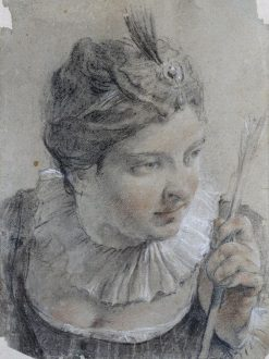 Young Woman with an Arrow | Giovanni Battista Piazzetta | Oil Painting