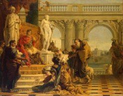 Maesinas Presenting the Liberal Arts to Emperor Augustus | Giovanni Battista Tiepolo | Oil Painting