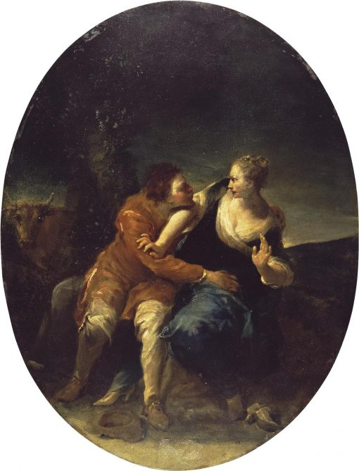 A Persistent Cavalier (genre scene) | Giuseppe Maria Crespi | Oil Painting