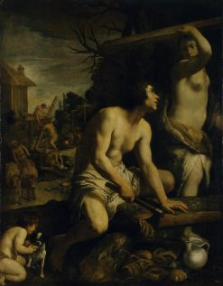 Construction of Noah's Ark | Guido Reni | Oil Painting