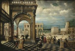 An Italian Palace   Hendrick van Steenwijck the Younger   Oil Painting