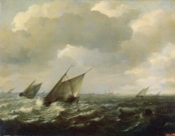 Sailing Vessels in a Strong Wind | Hendrik Martensz. Sorgh | Oil Painting