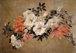 Azaleas   Henri Fantin Latour   Oil Painting