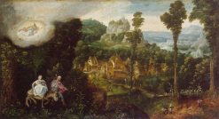 Landscape with Flight into Egypt | Herri met de Bles | Oil Painting