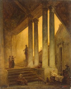Staircase with Columns | Hubert Robert | Oil Painting