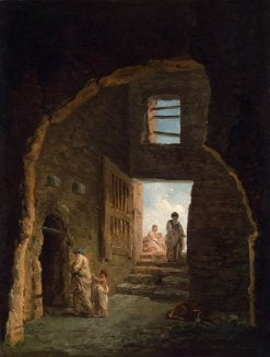 Inhabited Ruins | Hubert Robert | Oil Painting