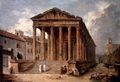 The Maison Carée at Nimes | Hubert Robert | Oil Painting