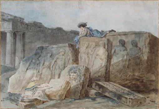 An Artist amongst the Ancient Ruins | Hubert Robert | Oil Painting