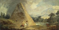 Pyramid of Cestius | Hubert Robert | Oil Painting