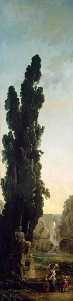 Cypresses | Hubert Robert | Oil Painting