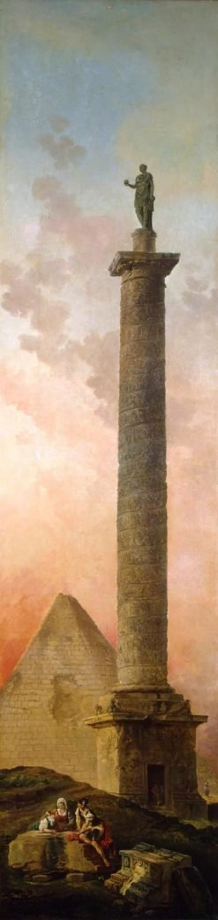 Landscape with a Triumphal Column | Hubert Robert | Oil Painting