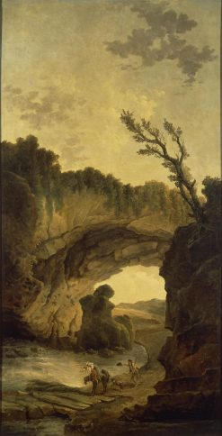 Landscape with an Arch in a Rock | Hubert Robert | Oil Painting