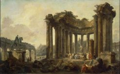 Landscape with the Ruins of the Round Temple