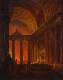 Fire | Hubert Robert | Oil Painting