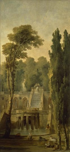 Landscape with a Terrace and Cascade | Hubert Robert | Oil Painting