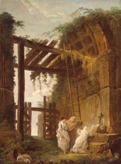 At the Hermit's | Hubert Robert | Oil Painting