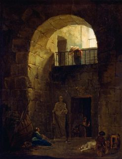 Neglected Statue | Hubert Robert | Oil Painting