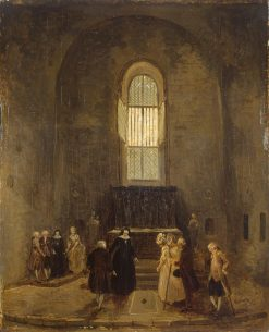 Examining an Old Church | Hubert Robert | Oil Painting
