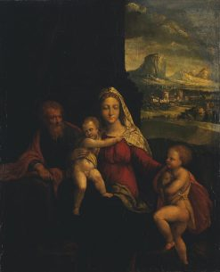 Holy Family with St John the Baptist | Il Garofalo | Oil Painting
