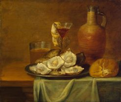 Breakfast with Oysters | Jacob Foppens van Es | Oil Painting