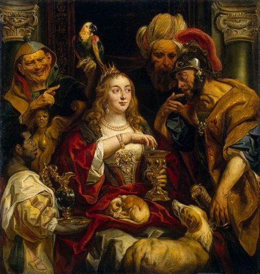 Cleopatra's Feast   Jacob Jordaens   Oil Painting