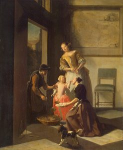 Buying Grapes | Jacob Ochtervelt | Oil Painting