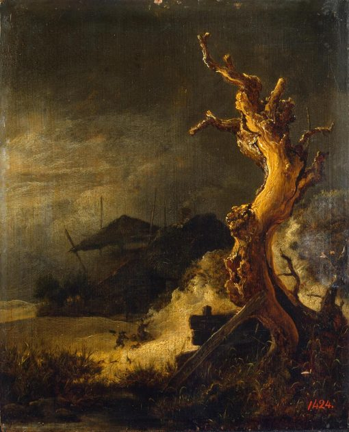 Winter Landscape with Dead Tree | Jacob van Ruisdael | Oil Painting