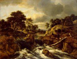 Waterfall in Norway | Jacob van Ruisdael | Oil Painting