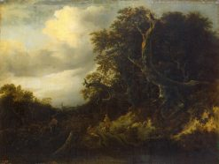 Road at the Dege of a Forest | Jacob van Ruisdael | Oil Painting