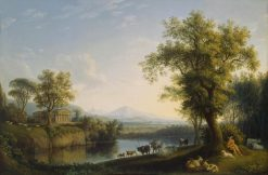Landscape with Cattle | Jakob Philipp Hackert | Oil Painting