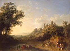 Temple Ruins in Sicily | Jakob Philipp Hackert | Oil Painting
