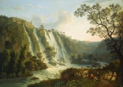 Villa of Maecenas and the Waterfalls at Tivoli | Jakob Philipp Hackert | Oil Painting
