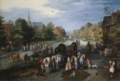 View of the Village of Schelle | Jan Brueghel the Elder | Oil Painting