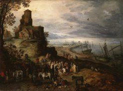 Fish Market   Jan Brueghel the Elder   Oil Painting