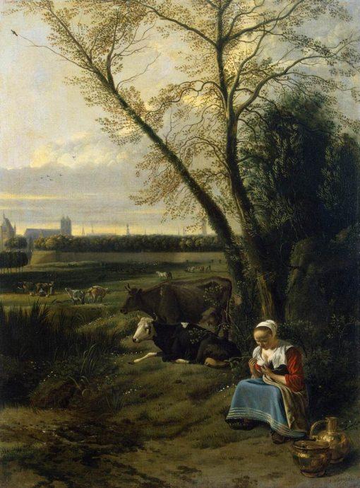 The Shepherdess | Jan Siberechts | Oil Painting
