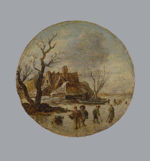 Winter Landscape with Skaters   Jan van Goyen   Oil Painting