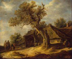 Landscape with Oak | Jan van Goyen | Oil Painting