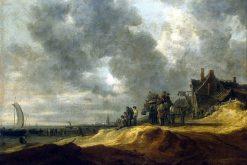Shore at Scheveningen   Jan van Goyen   Oil Painting