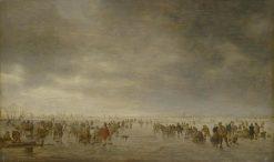 Skaters   Jan van Goyen   Oil Painting