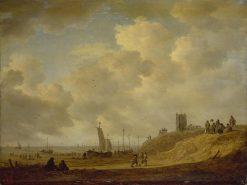 Shore in Egmond-on-See   Jan van Goyen   Oil Painting