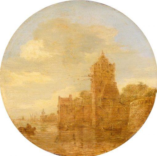 Boats on a Sea Shore | Jan van Goyen | Oil Painting