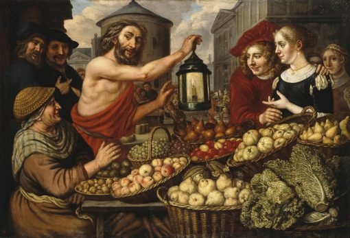 Diogenes with a Lantern at a Market | Jan Victors | Oil Painting
