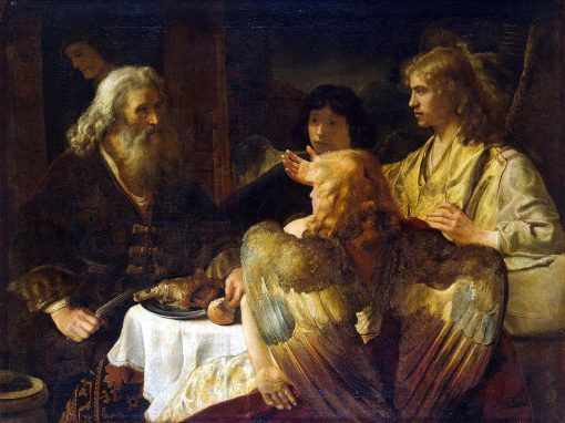 Abraham and the Three Angels | Jan Victors | Oil Painting