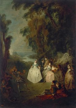 Dance under the Trees | Jean Baptiste Pater | Oil Painting